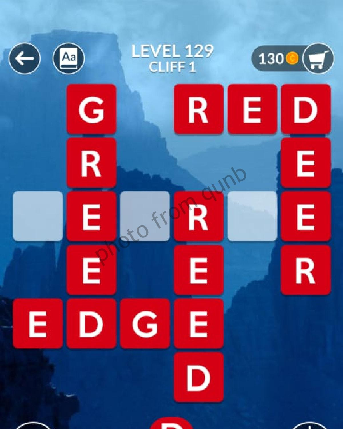 Wordscapes Level 129 Cliff 1 Answers Qunb