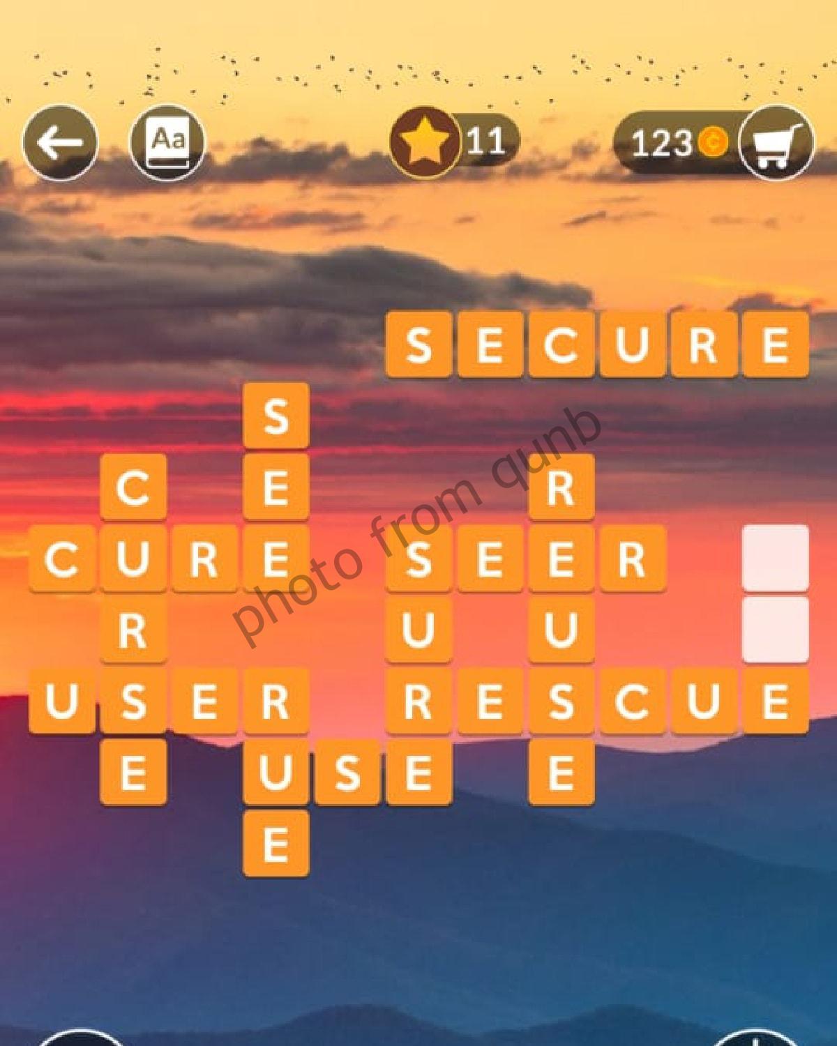 Wordscapes Level 212 Cloud 4 Answers Qunb