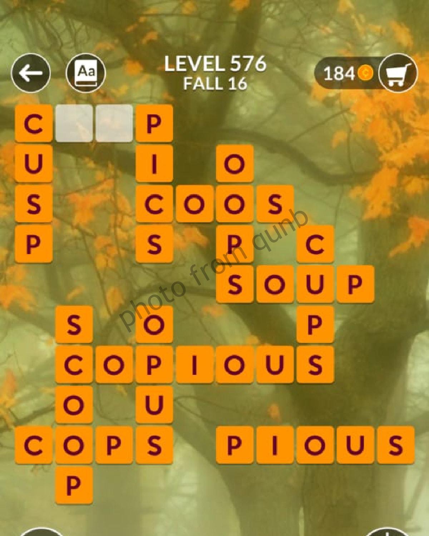 Wordscapes Level 576 Fall 16 Answers Qunb