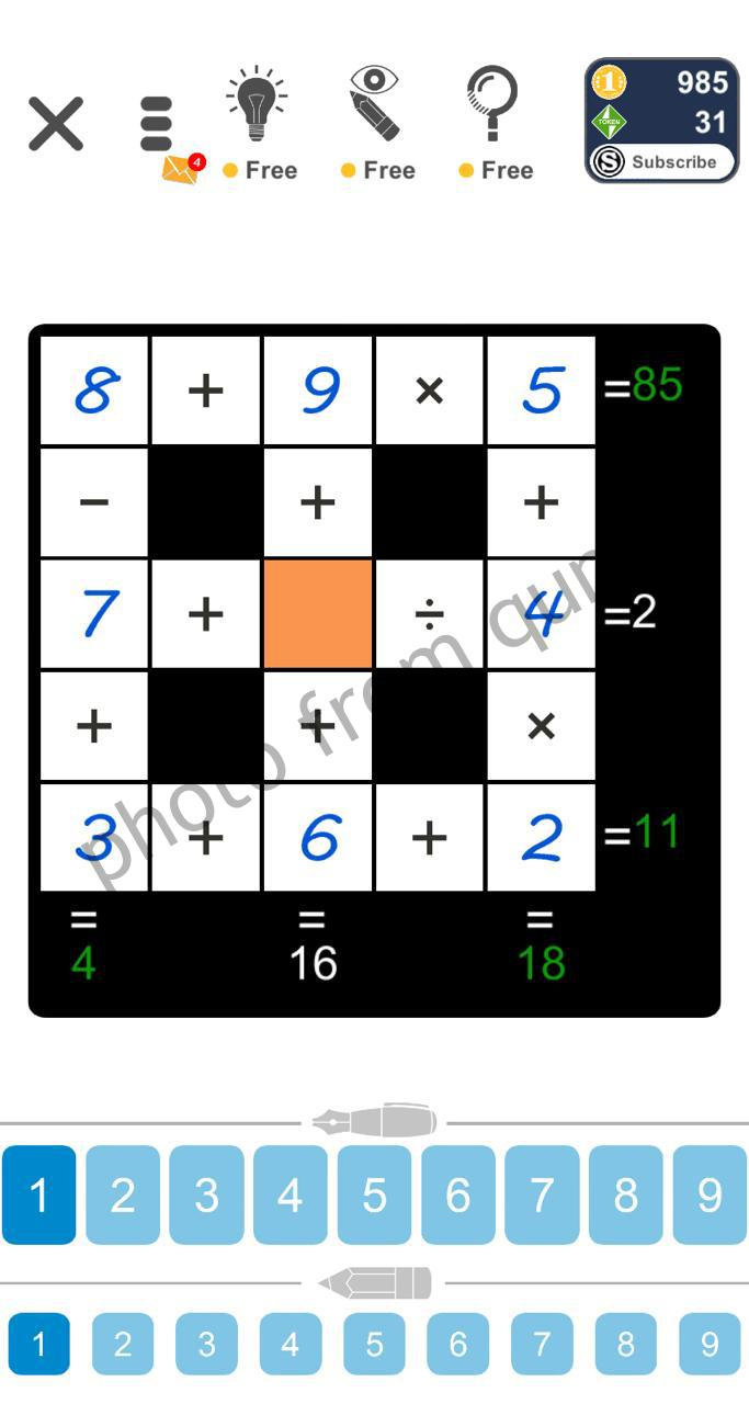 Puzzle Page Cross Sum May 6 2020 Answers Qunb