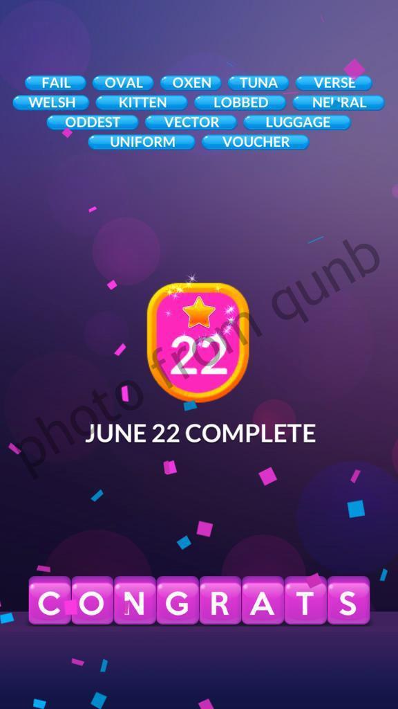 Word Stacks June 22 2020 Qunb