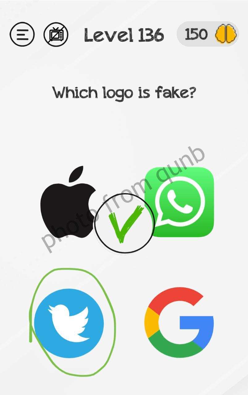 Braindom Level 136 Which Logo Is Fake Answers And Solutions Qunb