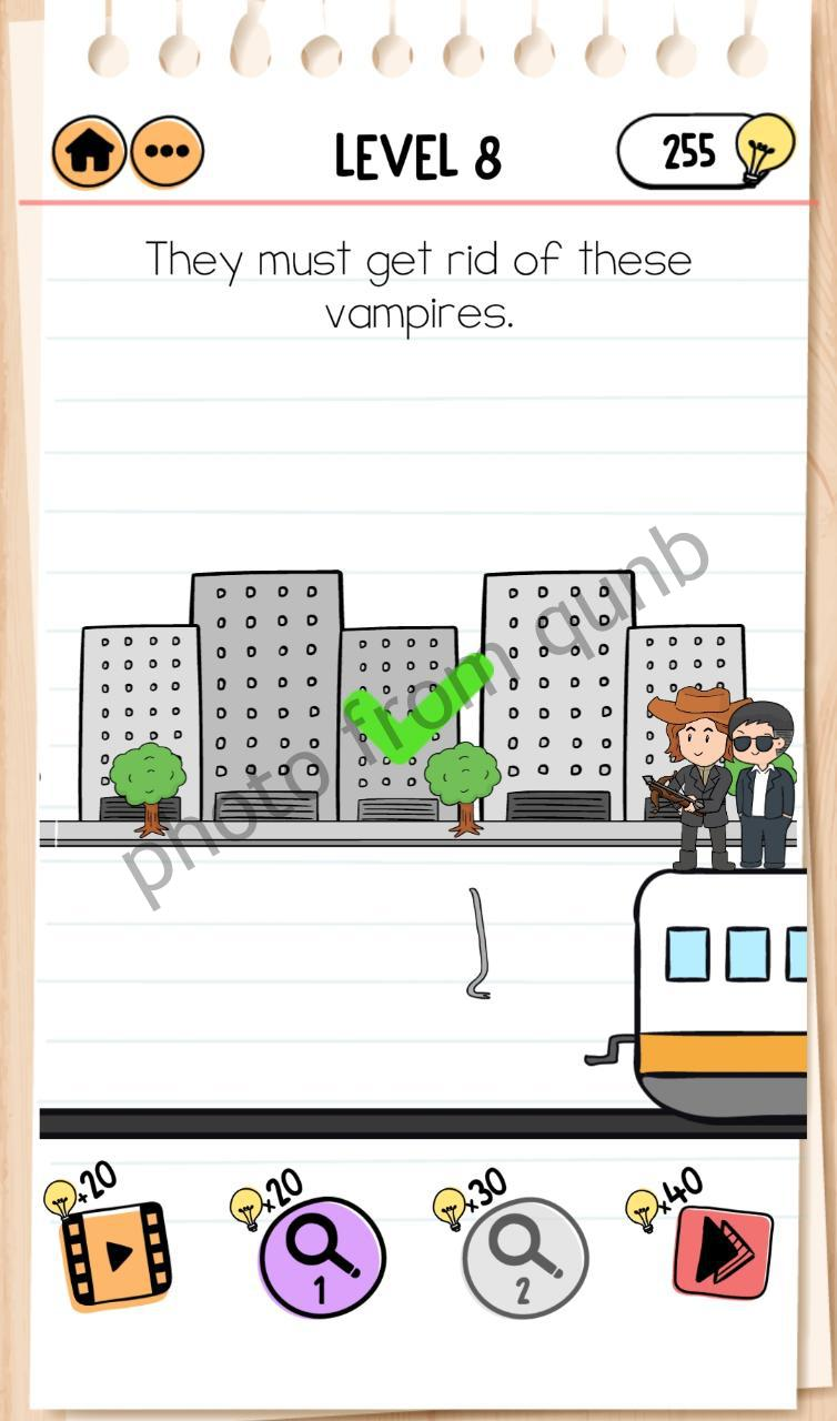 Brain Test 2 Smith And Joe Part 2 Level 8 They Must Get Rid Of These Vampires Answers Qunb